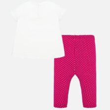Σετ μπλούζα και κολάν σταμπωτό baby κορίτσι 01716-011