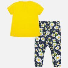 Σετ μπλούζα και κολάν σταμπωτό baby κορίτσι 01716-013