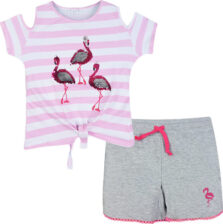Σετ μπλούζα με σορτς ροζ Εβίτα 198147