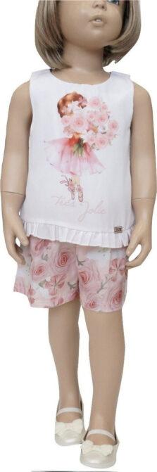 Παιδική ολόσωμη φόρμα σορτς για Κορίτσι 6250