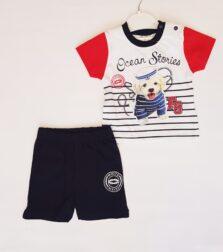 Σετ βερμούδα με Μπλούζα για Νεογέννητο Αγόρι 050125