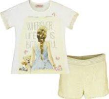 Εβίτα Παιδικό σετ σόρτς με μπλούζα 174040 λευκό