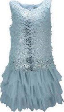 Φόρεμα ασημί τούλι κορίτσι Εβίτα