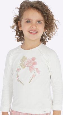 Mayoral παιδική μπλούζα στέκα κορίτσι εκρου 19-04005-026
