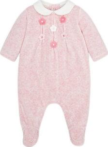 Φορμάκι Βελουτε για νεογέννητο κορίτσι 2756