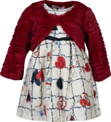 Βρεφικό Φόρεμα με γουνάκι Εβίτα 199504
