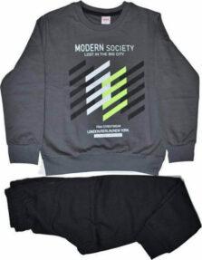 Ανοιξιάτικο Σετ Φόρμα με Μπλούζα 'Modern Society' 39344 Γκρι
