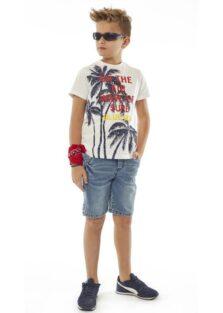 Σετ Βερμούδα τζιν με μπλούζα Αγόρι 214736 Hashtag