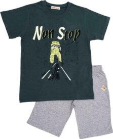 """Σετ Βερμούδα Με Μπλούζα """"Non Stop"""" 61221"""