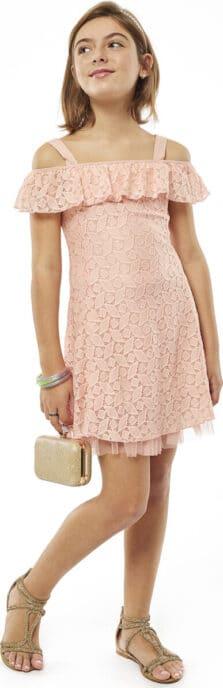Εβίτα Παιδικό Φόρεμα Δαντέλα Κορίτσι 214024