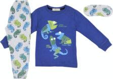 Εβίτα Παιδική Πιτζάμα Χειμωνιάτικη για Αγόρι Μπλε Hommies Η-123