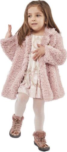 Εβίτα Παιδικό Φόρεμα 215527 με Παλτό Γούνα