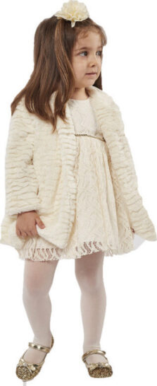 Βρεφικό φόρεμα με παλτό 215535 Εβίτα